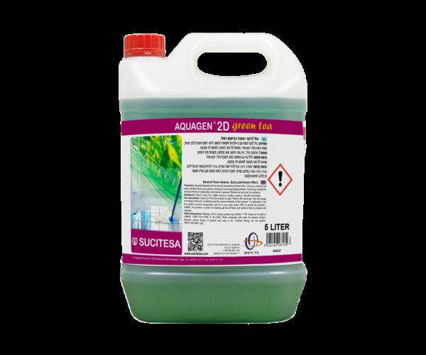 2D GREEN TEA – חומר ניקוי בבישום כפול לגרניט פורצלן וקרמיקה